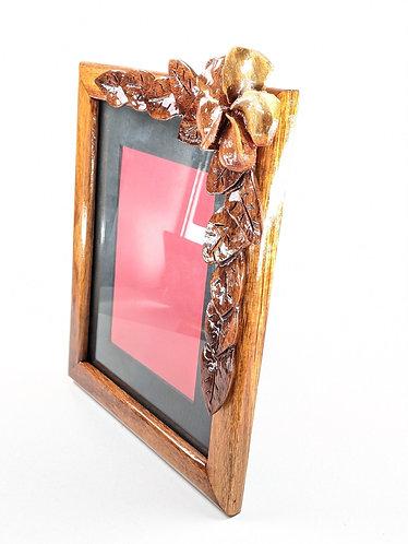 Carved Flower Frame 8x10 (pink)