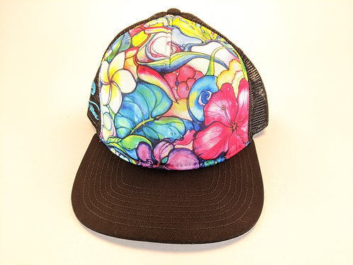 Hawaiian Art Printed Trucker Hats (paradise)