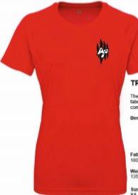 Women's TriDri Panelled Tech Tee Red
