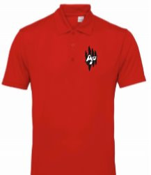 Men's TriDri Panelled Polo Fire Red