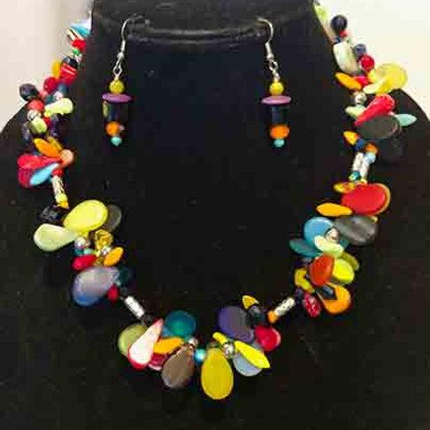 Double strand of Mali Wedding Beads