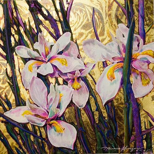 Japanese Iris on Golden Pond