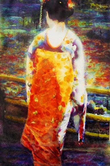 Geisha in Monet's Garden