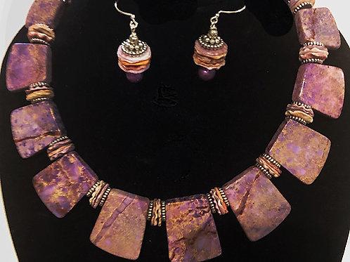 Lavender Sea Sediment with Scallop Shell Discs