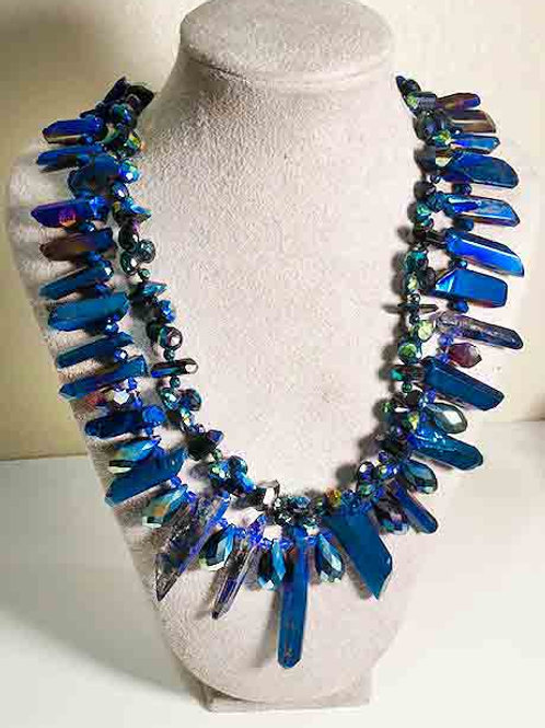 Peacock Blue Electroplated Titanium Crystal