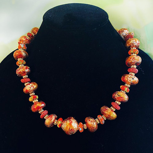 Hand Painted and Gold-leafed Beads