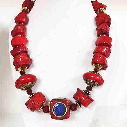 Tibet Accents with Red Branch Coral