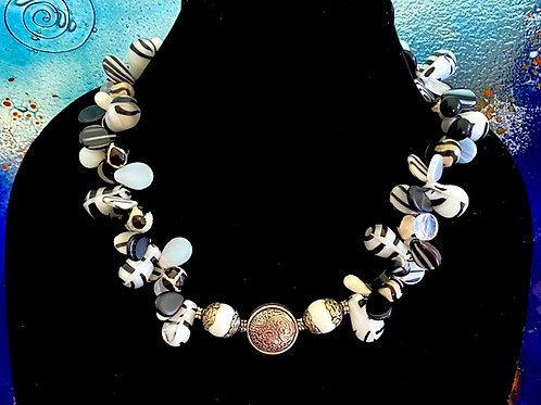 Black & White Mali Wedding Beads