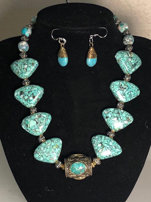 Turquoise Mosaic Trainagles