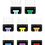 Thumbnail: Andis 8 PC colored comb set