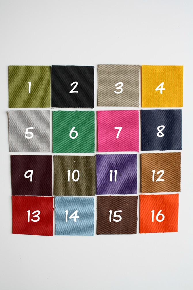 duck cotton canvas color sample chart