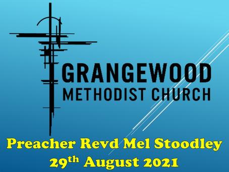 Sunday Worship - 29th August 2021