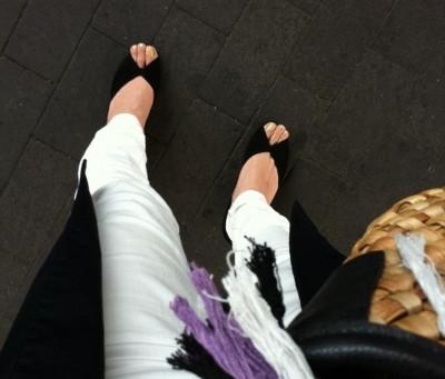 fitfit(フィットフィット)のオープントゥパンプスを履いてみました。