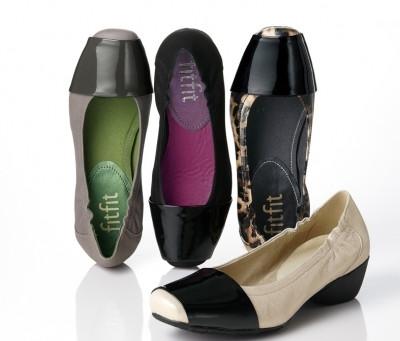 外反母趾にも優しいおしゃれな靴。fitfit(フィットフィット)バイカラー・ヒールアップ・バレエ