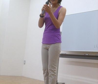 講演時に着用したReebokのSHAPEWEAR(シェイプウエア)とREALFLEX(リアルフレックス)