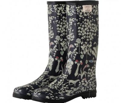 家庭菜園がぐっと楽しくなる!雨にも強い長靴 CHANTELIB/シャンテリブプリント ラバーブーツ 【AIGLE(エーグル)×リバティ社】ネイビー