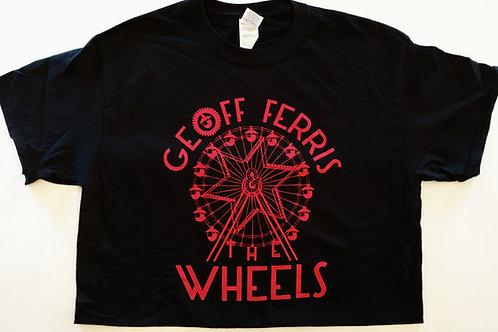"""Vintage """"Geoff Ferris & The Wheels"""" Black Tee"""