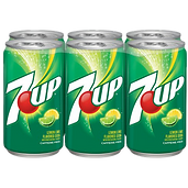 7 Up Lemon Lime Soda Six Pack Cans