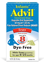 Infants' Advil Concentrate Drops Dye Free Fever Reducer White Grape
