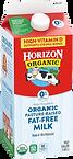 Horizon Organic Fat Free Milk Half Gallon