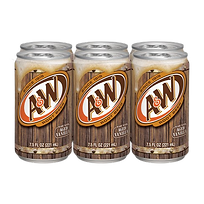 A&W Root Beer Six Pack Cans