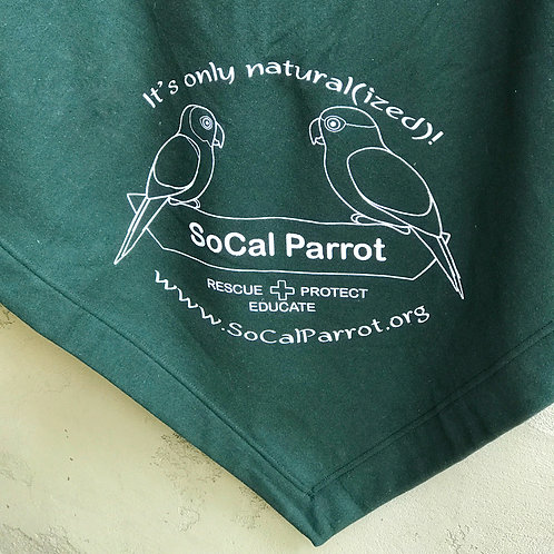SoCal Parrot Fleece Blanket