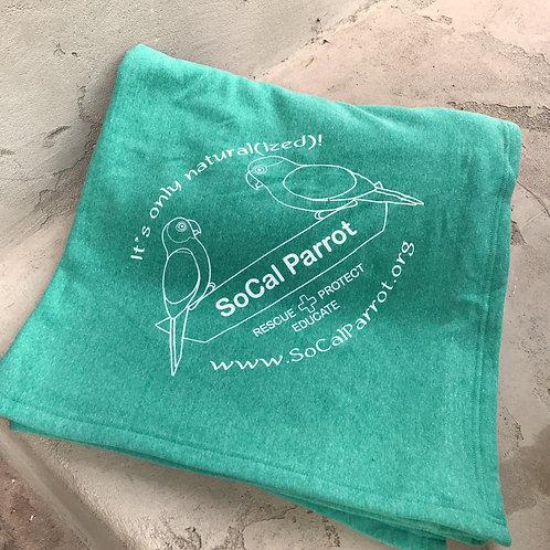 SoCal Parrot Oversized Fleece Blanket