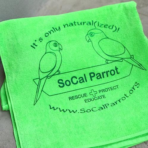 SoCal Parrot Beach Towel