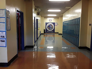 Photo of school hallway