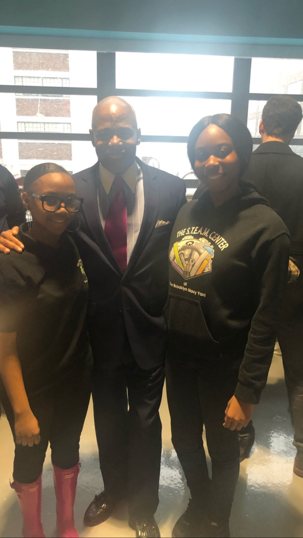 Students & Brooklyn Borough President