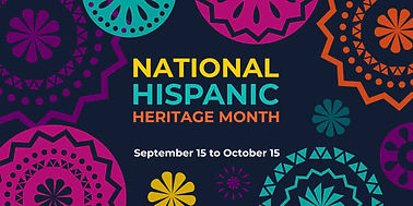 Flyer announcing Hispanic Heritage Month