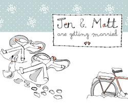 Wedding invite illustration/ design