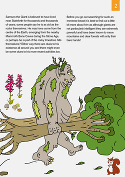 Spread from the Tale trail Samson the Giant of Stainforth