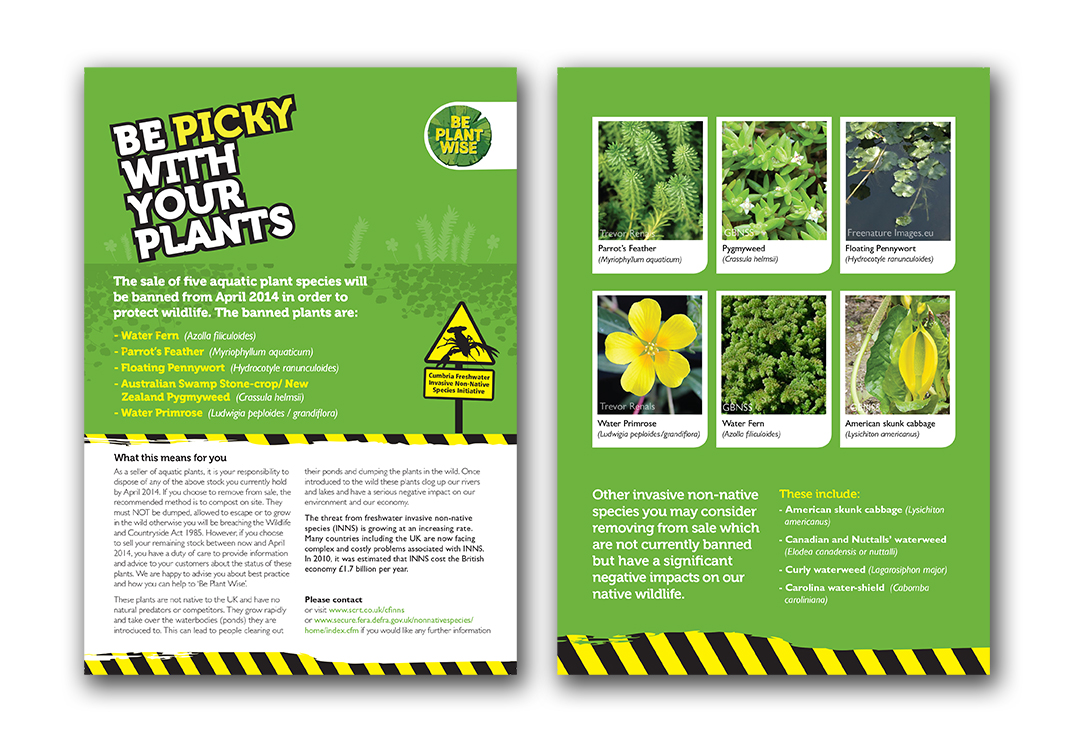 Plant awareness leaflets