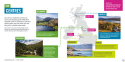 Design spread for an education brochure