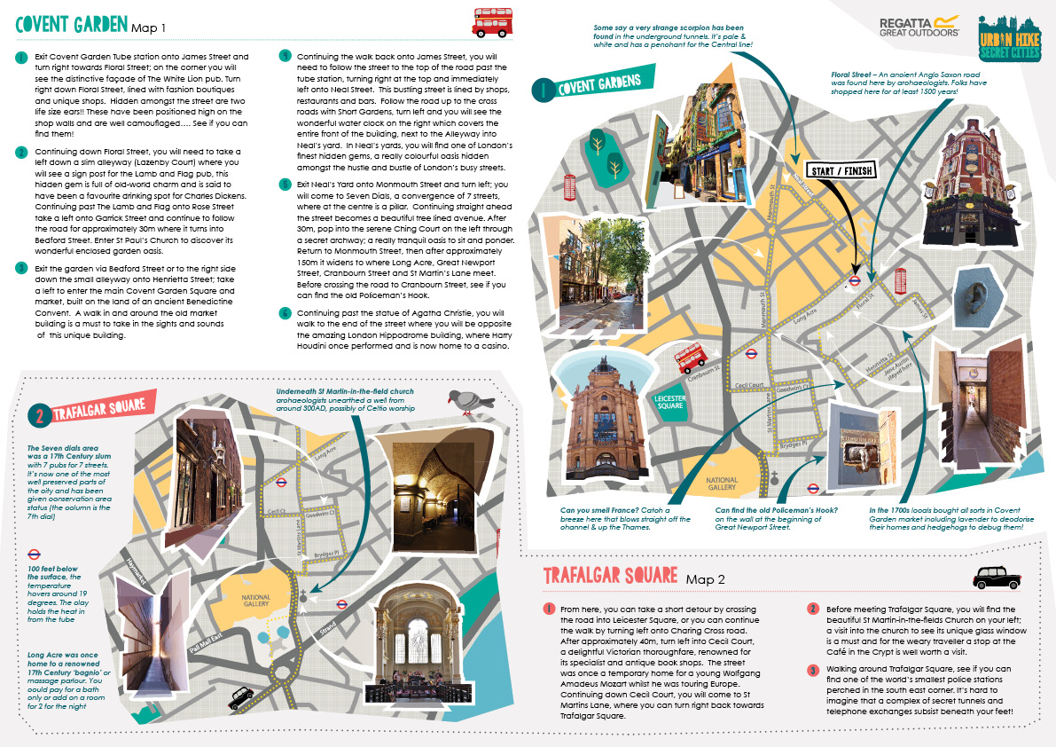 Urban Adventure map & leaflet design