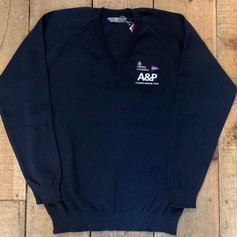 A&P Knitted V-Neck Knitted Jumper