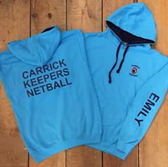 Carrick Keepers Netball Hoodie
