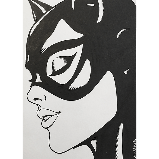 Catwoman Inktober Sketch