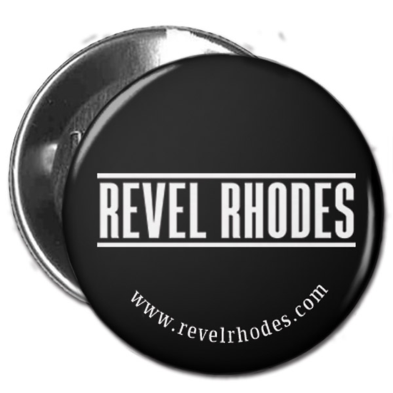 Revel Rhodes Logo - White on Black