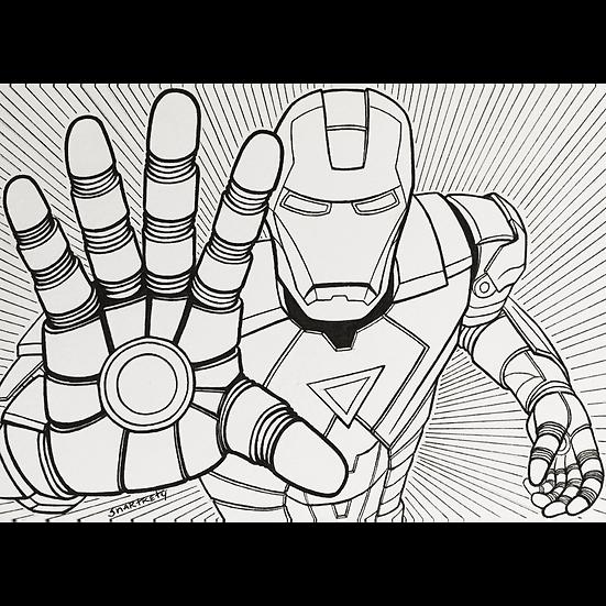 Iron Man Inktober Sketch