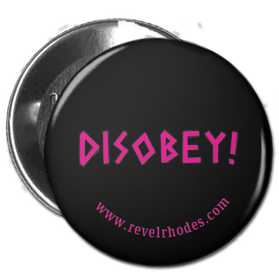 Disobey - Pink on Black