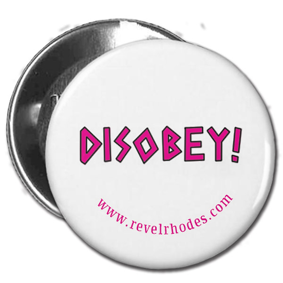 Disobey - Pink on White