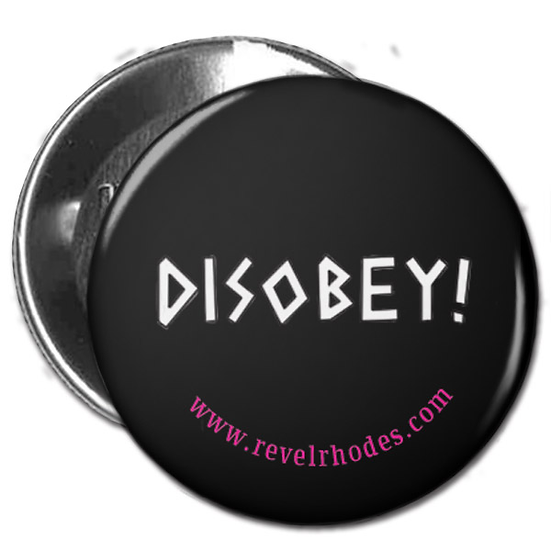 Disobey - White on Black