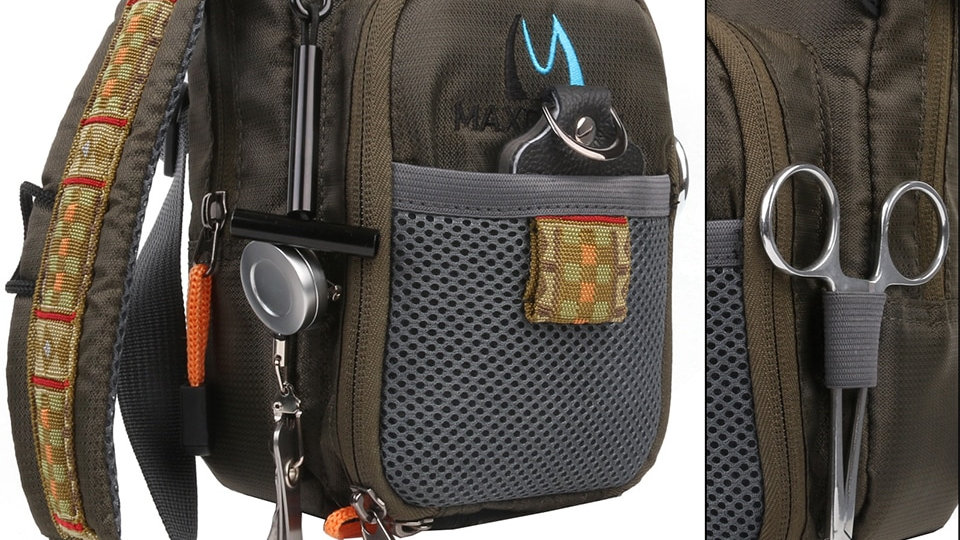 Maximumcatch Fly Fishing Bag Fishing Chest Pack Fishing Backpack With Accessory