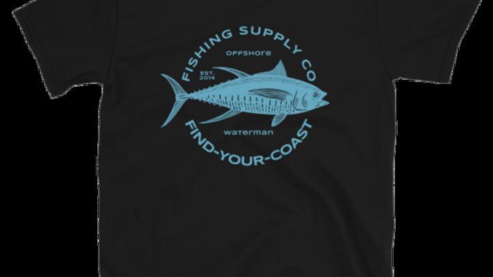 Men's Fishing Supply Co. Black Short-Sleeve Tee