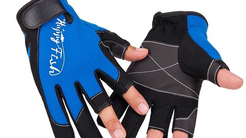 Neoprene Winter Fishing Gloves Fingerless and Anti Slip