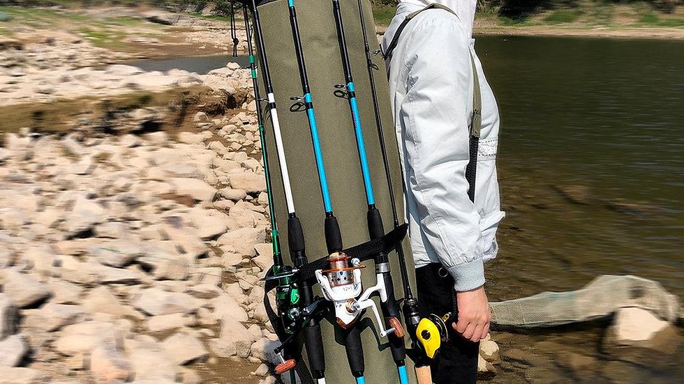 GHOTDA Fishing Bag Portable Multifunction Nylon Fishing Bags Fishing Rod Bag