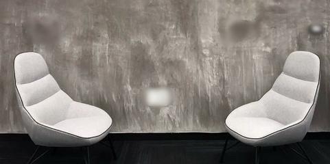 קיר בדוגמת בטון מוחלק