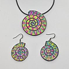 Fibonacci - Spiral Pendant and Earrings
